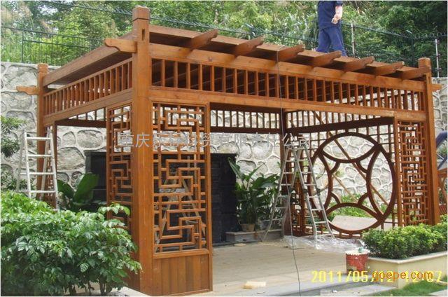 欧式木屋施工定做 生态农庄栏杆定做