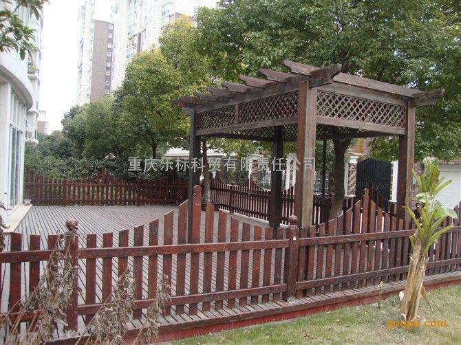 户外实木栏杆 防腐木栏杆定做 户外实木围栏 木拱桥丨