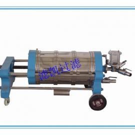 上海滤凯厂家直销卧式硅藻土过滤器,WK220硅藻土过滤机
