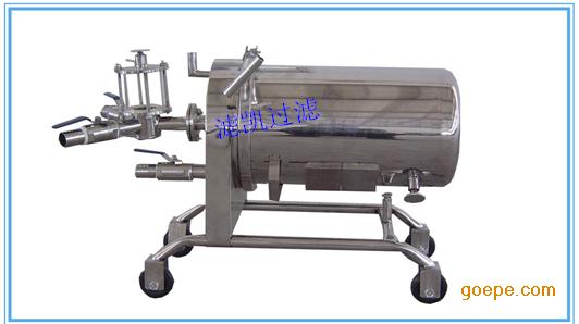 上海滤凯直销不锈钢卧式硅藻土过滤器,白酒过滤机,品质保证