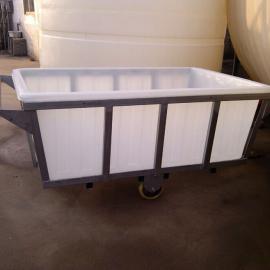 岱山县直达1300L白色塑料方箱,华社PE塑料方箱一件起发