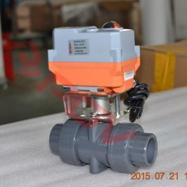 高速开关型PVC电动球阀20NM超小型执行器