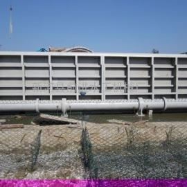 湖北客户定制钢坝闸门高清图片