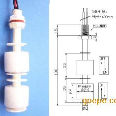 双浮球液位开关,水位开关RX-PPI-100h2