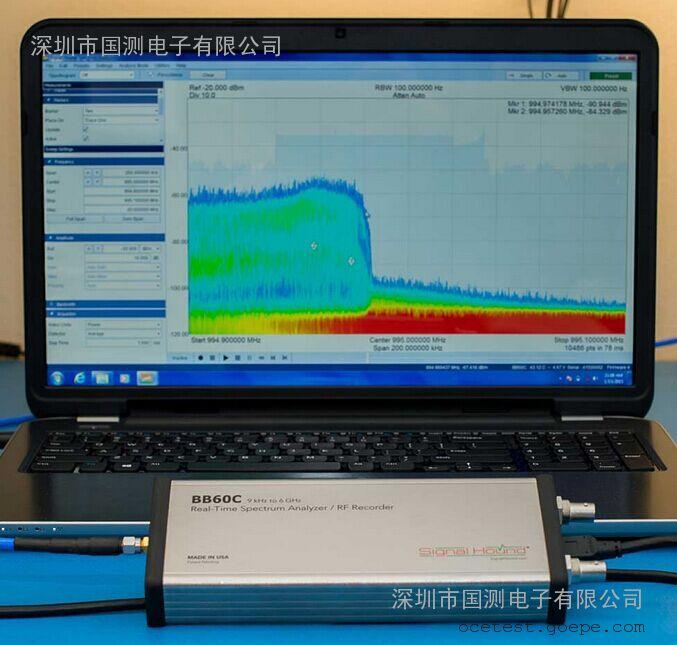 BB60C实时频谱分析仪和射频记录仪(9KHz-6GHz)