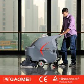 国产高美洗地吸干机 GM50B电瓶式洗地机 手推式洗地机价格
