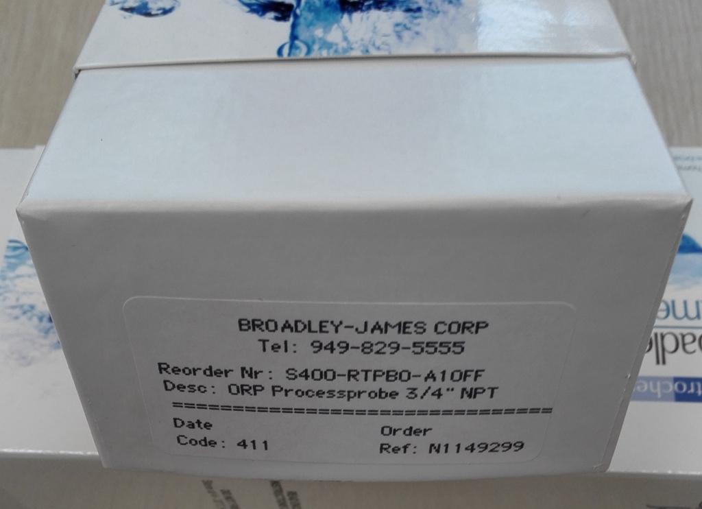 美国Broadley James 在线ORP电极标配带3米线