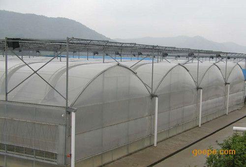 农业种植薄膜拱形连栋温室,山东双层薄膜连栋温室大棚