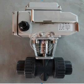 电动UPVC塑料螺纹球阀