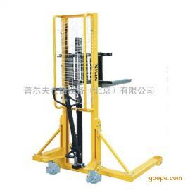 供应手动堆高车西林电动堆高车高弹性货物堆高装卸叉车手动堆垛机