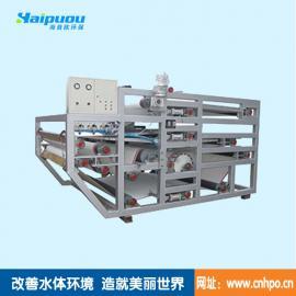供应海普欧污泥浓缩处理设备三网带式压滤机特点及结构
