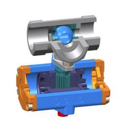 不锈钢一片式双作用气动球阀1PC-DN20  三通L型 304材质