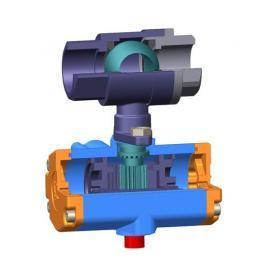 不锈钢二片式双作用气动球阀2PC-DN20  304材质