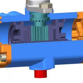 不锈钢片式气动球阀配件  铝合金执行器DN50