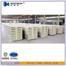 【聚氨酯夹芯板厚度】50、75、100聚氨酯夹芯板厚度供应