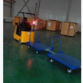 厂家直销 牵引小挂车 牵引小拖车 仓储货物搬运牵引车聚氨酯轮
