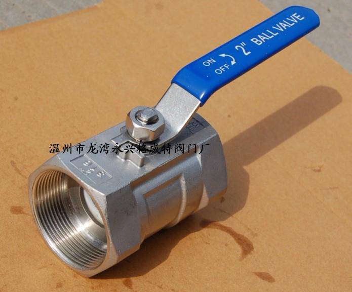 201/304材质国标不锈钢内螺纹一片式带锁球阀q11f图片