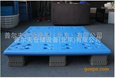 厂家直供吹塑托盘高分子聚乙烯川字平板 耐低温 防摔塑胶托盘北京