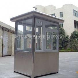 厂家供应商定做不锈钢保安岗亭,活动板房材质304 #201
