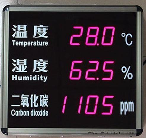 二氧化碳温湿度显示屏