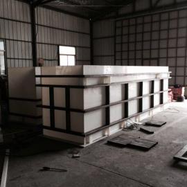 PP酸洗槽价格电镀槽尺寸电解槽图片塑料防腐电解电度槽