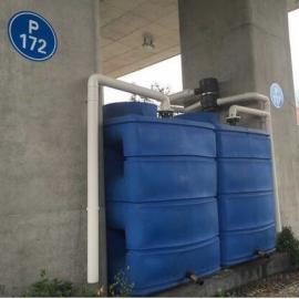 供应3立方雨水收集水箱高架桥雨水收集桶平底水箱