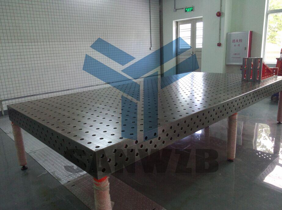 4米高强度铸铁柔性工装平台,柔性组合工装夹具铸铁焊接平台