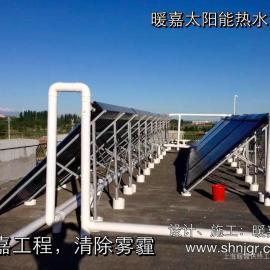 工厂太阳能热水设备 商用太阳能燃气并联系统供热采暖设备