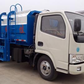 东风锐铃5立方对接式垃圾车带挂桶翻转装置