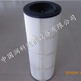 覆膜高精度除尘滤筒粉尘滤芯  润科环保供应