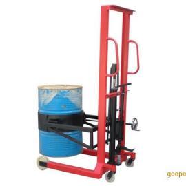 手动油桶升高车 油桶翻转车 液压翻转式油桶倒料车