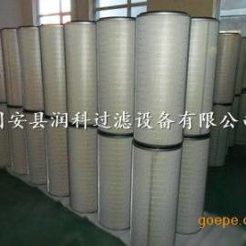 PTFE覆膜除尘滤芯进口滤材滤筒 润科环保力荐产品