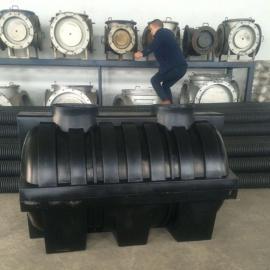 梁山1500L一体化PE化粪池耐酸碱三格式污水处消减粪池