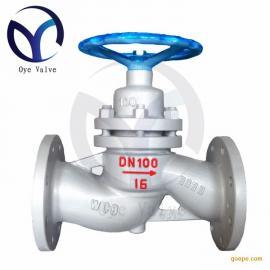 柱塞阀DN100 U41SM-16C锅炉水暖阀门法兰式阀门