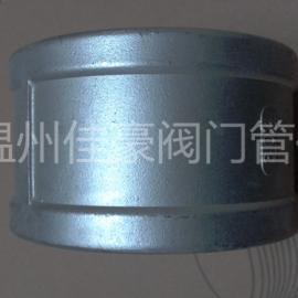 精品优质304不锈钢铸造内螺纹6分丝牙白化直通管箍中间接头
