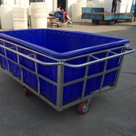 厂家直销特大塑料方箱水产方箱运输周转桶