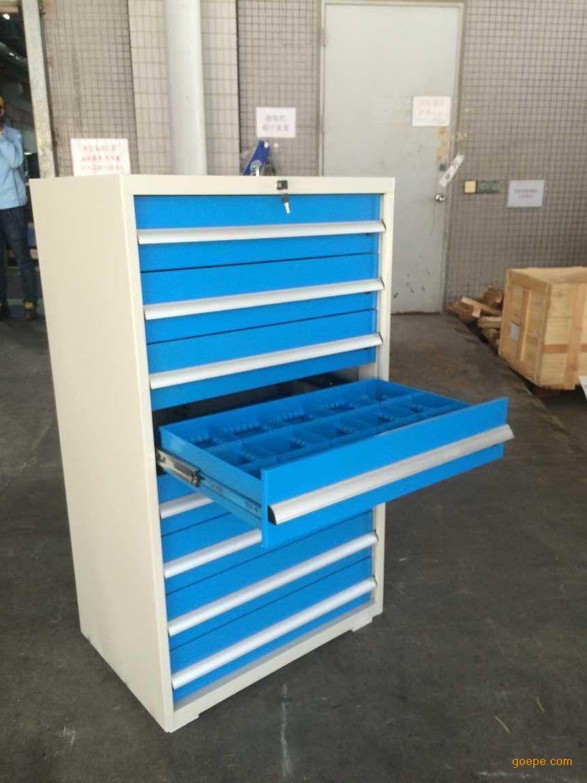 机床工具柜,车间工具箱,钢制工具摆放柜,八抽工具柜