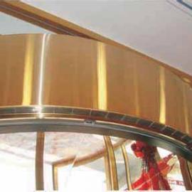 酒店\银行\商场等转门专用弧形PTC热风幕颜色转门接近