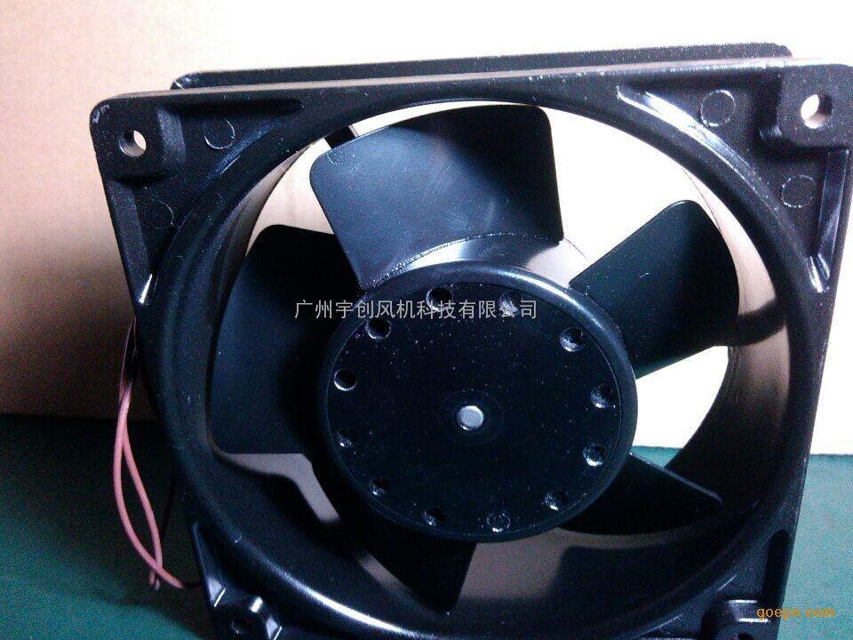直销liying12038散热风扇120℃耐高温铁叶风机