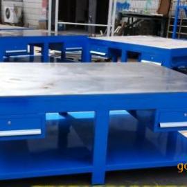 钳工FIT模桌,铁板包木钳工桌,重型模具钳工台