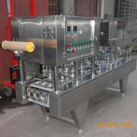塑料杯装绿豆沙冰灌装封口机产量高速度快稳定性极高