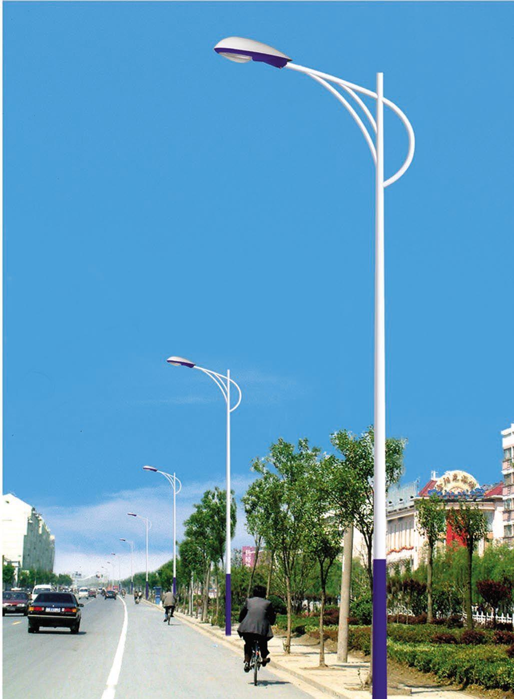 简约街头路灯风景图片
