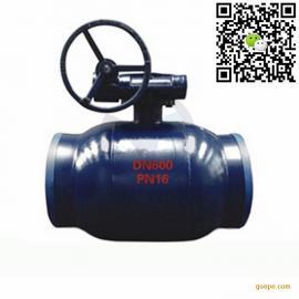 涡轮传动大口径全焊接球阀  Q367F 一体式焊接球阀门