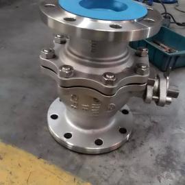 Q41F-100P-DN125不锈钢法兰直通式球阀