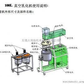 DZJR-100L 真空均质乳化机组