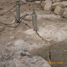 石材二次分解替代人工打钎无声无震动机械设备