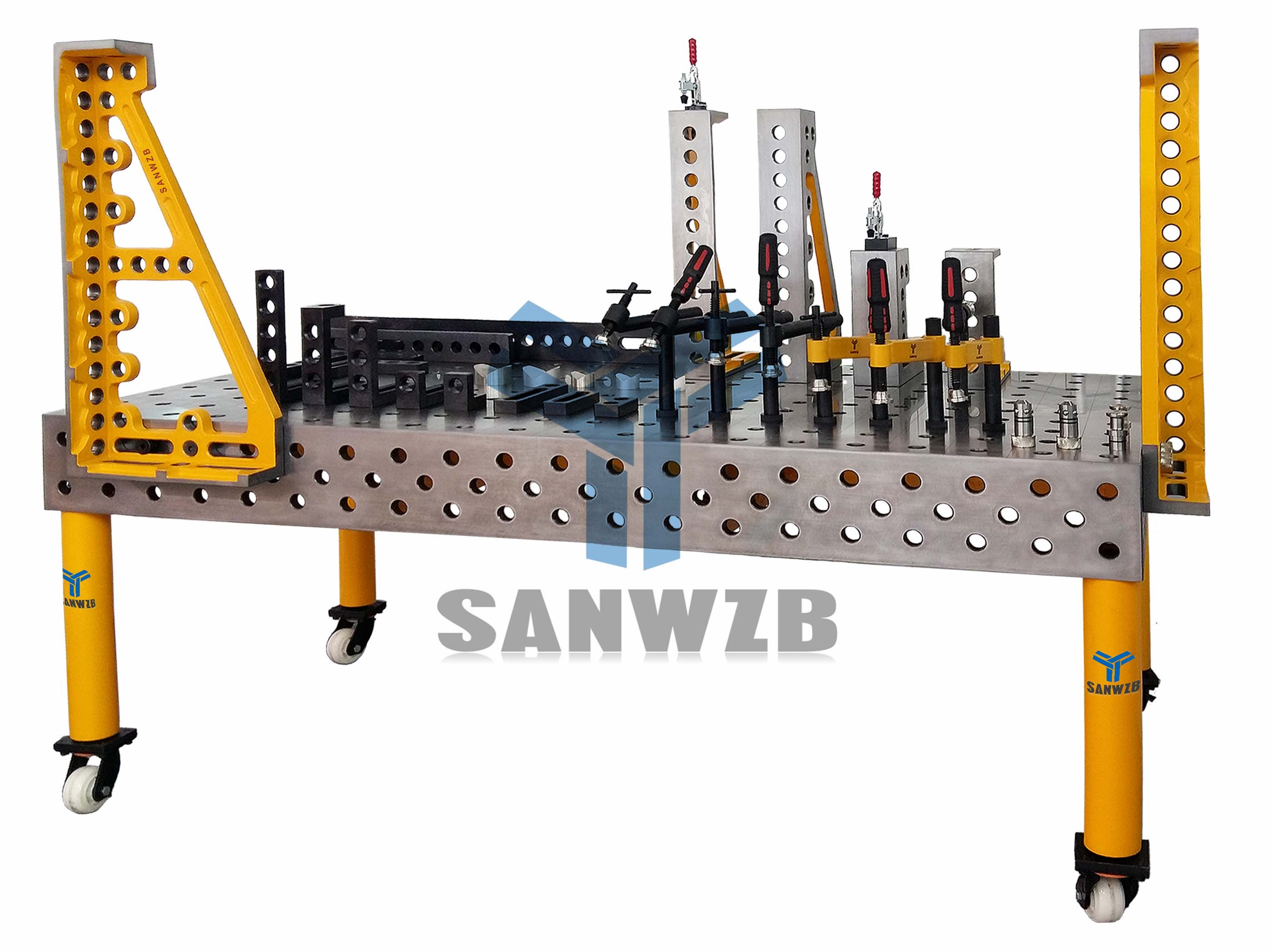 三维柔性组合焊接工装夹具,机器人焊接工装夹具,自动焊接夹具