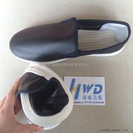 专业生产出口防静电鞋PU皮革实面工鞋