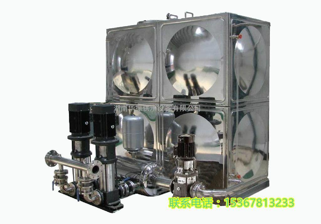 """(ZWX)箱式无负压供水设备运行说明 罗菲菲:15367813233 (1)当市政管网高压时,设备处于停机状态,市政水源通过水源罐、旁通管路直接向用户管网供水。 (2)当市政管网欠压时,设备自动启动,在原有水压基础上变频调速增压(恒压)供水,由于按""""差多少,补多少""""原则增压,所以在全流量范围即满足了用户恒压供水的需求,同时又实现了高效节能运行。运行过程中密闭的海洋法罐只相当于一段管路,新鲜卫生的自来水不断流过水源罐(或承压水池),不会遭受外界污染。 (3)当市政水源压力太低,自来"""