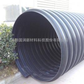 洛阳钢带聚乙烯排水管,承插式PE排污管